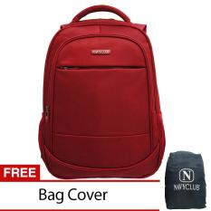 Navy Club Tas Ransel Laptop Tahan Air Tas Pria Tas Wanita 8300 Backpack Up To 15 Inch Bonus Bag Cover Merah Asli