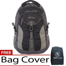 Toko Navy Club Tas Ransel Kasual Tas Pria Tas Wanita 6263 Backpack Daypack Bonus Bag Cover Hitam Online Terpercaya