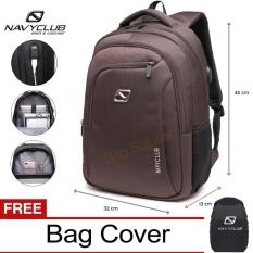 Navy Club Tas Ransel Laptop - Tas Pria Tas Wanita Tas Punggung - Backpack built in USB Charger Up to 15 inch Anti Air FBJFB BPU - Bonus Cover Tas