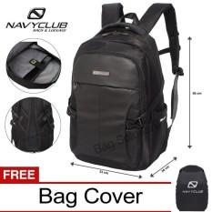Diskon Navy Club Tas Ransel Laptop Tas Pria Tas Wanita Eieg Backpack Up To 15 Inch Hitam Branded