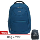 Jual Navy Club Tas Ransel Laptop Expandable Waterproof 5852 Biru Free Bag Cover Navy Club
