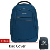 Diskon Produk Navy Club Tas Ransel Laptop Expandable Waterproof 5853 Biru Free Bag Cover