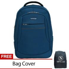 Toko Navy Club Tas Ransel Laptop Expandable Waterproof 5853 Biru Free Bag Cover Online
