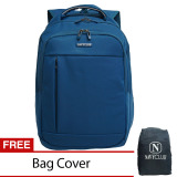 Jual Navy Club Tas Ransel Laptop Expandable Waterproof 8286 Biru Free Bag Cover Di Bawah Harga