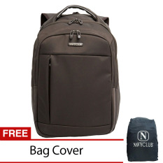 Harga Navy Club Tas Ransel Laptop Expandable Waterproof 8286 Coffee Free Bag Cover Yang Murah
