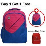 Promo Navy Club Tas Ransel Laptop Kasual 3267 Tas Pria Tas Wanita Tas Laptop Backpack Up To 15 Inch Bonus Bag Cover Pink Buy 1 Get 1 Free Navy Club Terbaru