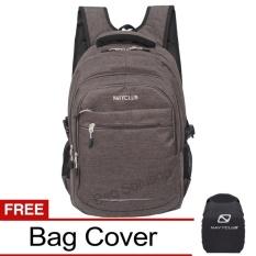 Diskon Besarnavy Club Tas Ransel Laptop Kasual Tas Pria Tas Wanita Eidj Backpack Upto 15 Inch Abu Bonus Bag Cover