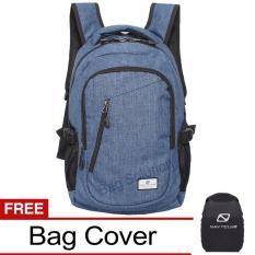 Navy Club Tas Ransel Laptop Kasual - Tas Pria Tas Wanita Tas Laptop Trendy EIBA Backpack Up to 14 inch Daypaack - Biru