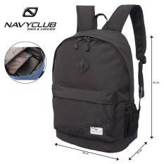Navy Club Tas Ransel Laptop Kasual - Tas Pria Tas Wanita Tas Laptop Trendy EIBB Backpack Up to 14 inch Daypaack - Hitam