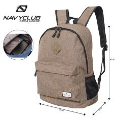 Navy Club Tas Ransel Laptop Kasual - Tas Pria Tas Wanita Tas Laptop Trendy EIBB Backpack Up to 14 inch Daypaack - Coffee