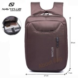 Review Navy Club Tas Ransel Laptop Tahan Air 5883 Backpack Up To 15 Inch Coffee Terbaru