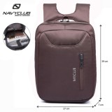 Review Toko Navy Club Tas Ransel Laptop Tahan Air 5883 Backpack Up To 15 Inch Coffe