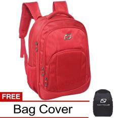 Promo Toko Navy Club New Arrival Tas Ransel Laptop Tas Pria Tas Wanita Tas Laptop Backpack Expandable Up To 15 Inch Anti Air 5906 Merah Bonus Bag Cover
