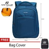 Jual Beli Online Navy Club Tas Ransel Laptop Tahan Air 8292 Backpack Up To 15 Inch Bonus Bag Cover Biru