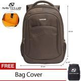 Spek Navy Club Tas Ransel Laptop Tahan Air 8292 Backpack Up To 15 Inch Bonus Bag Cover Coffee Dki Jakarta