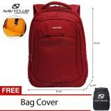 Daftar Harga Navy Club Tas Ransel Laptop Tahan Air 8292 Backpack Up To 15 Inch Bonus Bag Cover Merah Navy Club