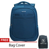 Review Navy Club New Arrival Tas Ransel Laptop Tahan Air Tas Pria Tas Wanita 8299 Backpack Up To 15 Inch Bonus Bag Cover Biru Terbaru