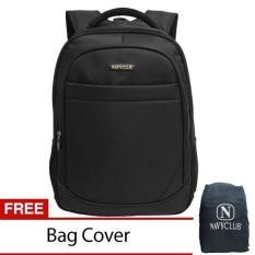 Harga Navy Club New Arrival Tas Ransel Laptop Tahan Air Tas Pria Tas Wanita 8299 Backpack Up To 15 Inch Bonus Bag Cover Hitam Navy Club Online