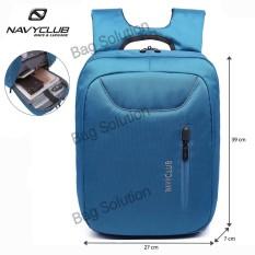Beli Navy Club Tas Ransel Laptop Tahan Air Tas Pria Tas Wanita 5883 Backpack Up To 15 Inch Biru Seken