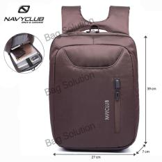 Navy Club Tas Ransel Laptop Tahan Air - Tas pria Tas Wanita Tas Laptop - 5883 Backpack Up to 15 inch - Coffee