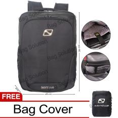 Cuci Gudang Navy Club Tas Ransel Laptop Tahan Air Tas Pria Tas Wanita Tas Laptop 5886 Backpack Up To 15 Inch Black