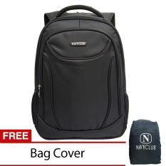 Diskon Navy Club Tas Ransel Laptop Tahan Air 8295 Backpack Up To 15 Inch Bonus Bag Cover Hitam Akhir Tahun