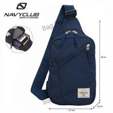 Navy Club Tas Selempang Travel - Tas Punggung Tas Dada Tahan Air - Sling Bag Tas Pria Tas Wanita 5032 - Biru Tua