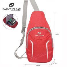 Jual Navy Club Tas Selempang Travel Tas Punggung Tahan Air Sling Bag Tas Pria Tas Wanita 5547 Merah Online