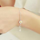 Spek Negara Qing S925 Jepang Dan Korea Selatan Sterling Silver Gelang Daisy Bunga Oem