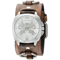 Nemesis Dragon King Of Skulls QUARTZ Stainless Steel dan Leather Watch, Warna: Coklat (Model: KDFRB910S) -Intl