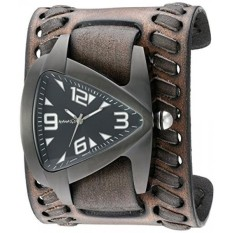 Nemesis Mens IP Ion-Plated Teardrop Quartz Stainless Steel and Leather Watch, Color:Black (Model: VBDK061W) - intl