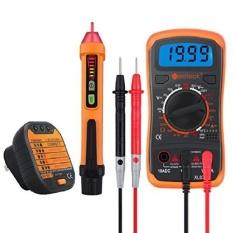 Neoteck Uji Listrik Kit Termasuk Mini 1999 Count Digital Multimeter Non-kontak 12-1000 V AC Tegangan Detector Pen dan Recepta-Intl