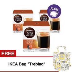 Nescafe Dolce Gusto Kapsul Grande Intenso 3 Box Free Ikea Bag Treblad Indonesia Diskon 50