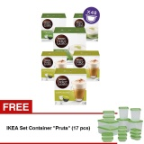 Beli Nescafe Dolce Gusto Kapsul Set Cappuccino And Green Tea 6 Box Free Ikea Set Container Pruta 17 Pcs Nescafe Dolce Gusto Murah