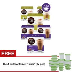 Nescafe Dolce Gusto Kapsul Set Cappuccino And Mocha 6 Box Free Ikea Set Container Pruta 17 Pcs Original