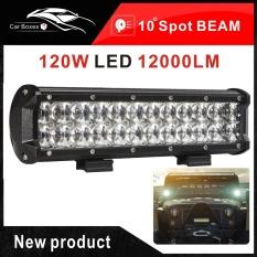 Baru 120 W LED Light Bar Spot Beam untuk Offroad Work Light SUV ATV 4x4 4WD Trailer Truk Boat Ute Car Lampu LED Mobil Bohlam LED 12 V 24 V 6000 K-Intl