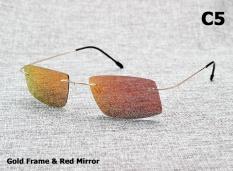Baru 2017 Matrix Style Polarized Sunglasses Titanium Memori Frame Berjemur Kacamata Pria Kacamata-Intl