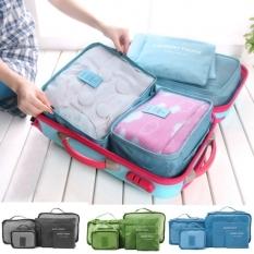 Baru 6 Buah Tas Koper Travel Organizer Pakaian Besar Medium Ukuran Kecil Kantong Tas Koper-Internasional