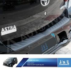 New Agya 2017 Rear Scuff Plate Full Black / Sillplate Belakang JSL