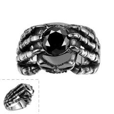 New American Retro Skull Bertatahkan Zircon Stainless Steel Rings GMYR093-9-Intl