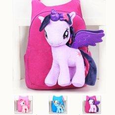 Spesifikasi New Brand Kualitas Tinggi Cute 3D My Little Pony Minion Plush Backpack Bahu Anak Tas Kartun Tas Sekolah Untuk Anak Satchel Terbaik