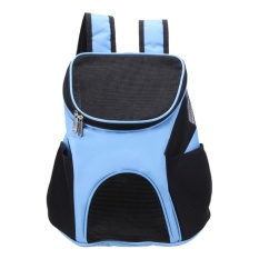 Harga Baru Bernapas Ransel Hewan Peliharaan Anjing Membawa Tas Portable Travel Bag Biru Intl Satu Set