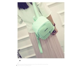 New Candy Color Casual Backpack Fresh Girl Bag Korean Version of the Hospital Wind Shoulder Bag -blue - intl