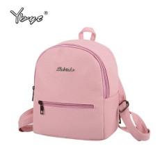 New Candy Color Casual Backpack Fresh Girl Bag Korean Version of the Hospital Wind Shoulder Bag -Pink - intl