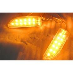 Mobil Baru 2X Amber SMD 13LED 12 V Rearview Kaca Spion Sein Lampu Putih-Intl