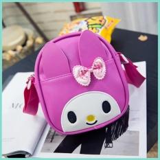 New Cartoon Cute Oblique Cross Package Bowknot Children Bag Kindergarten Bags Creative Children Backpack 15×6×18Cm Intl Asli