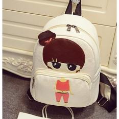 Cuci Gudang Baru Kartun Gadis Kecil Pu Leather Shoulder Bag Cartoon Series Backpack Anak Siswa Bag Little G*Rl 23 × 13 × 26 Cm Intl