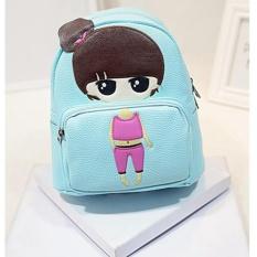Jual Baru Kartun Gadis Kecil Pu Leather Shoulder Bag Cartoon Series Backpack Anak Siswa Bag Little G*rl 23 × 13 × 26 Cm Intl Oem Murah