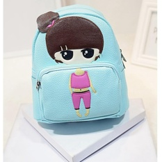 Jual Baru Kartun Gadis Kecil Pu Leather Shoulder Bag Cartoon Series Backpack Anak Siswa Bag Little G*rl 23 × 13 × 26 Cm Intl