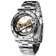 Desain Baru Jam Tangan Steel Merek Ik Mewarnai Hollow Automatic Mechanical Watch Men Skeleton Renang Watches 50 M Tahan Air Intl Promo Beli 1 Gratis 1